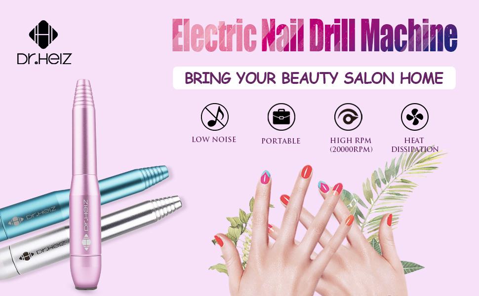 Amazon.com: Dr.HeiZ 11 in 1 Professional Nail File-Electric Mini ...