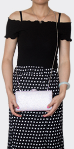 large crystal clutch