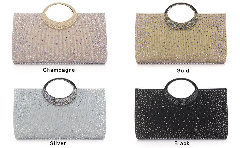 colors for crystal evening bag
