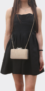 bow clutch gold