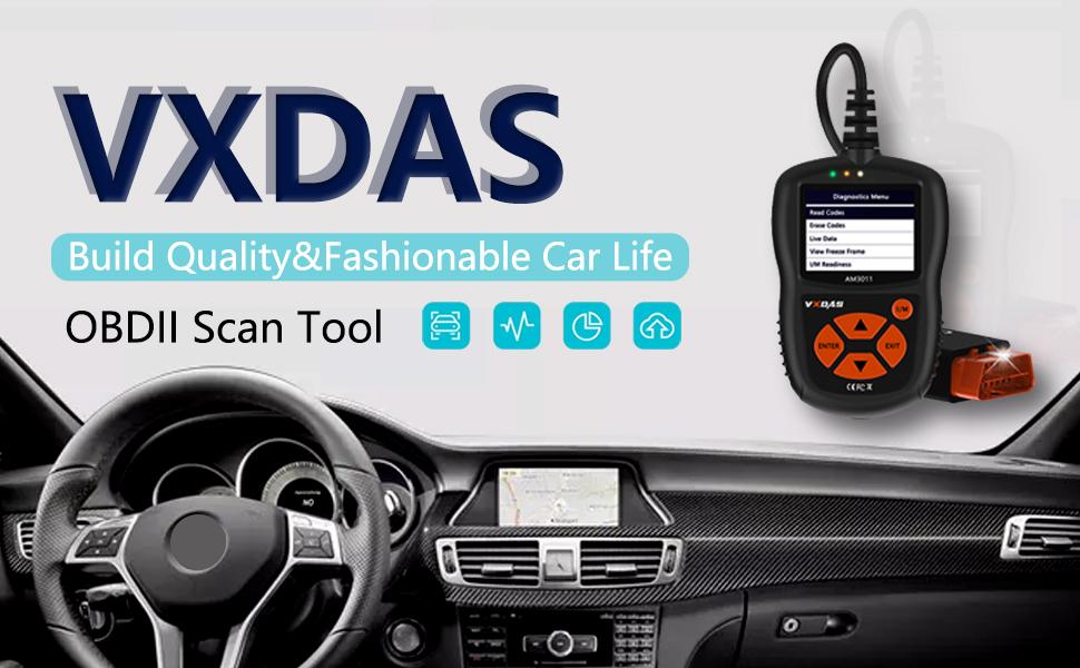 Amazon.com: VXDAS Universal OBD2 Scanner Car Code Reader Automotive ...