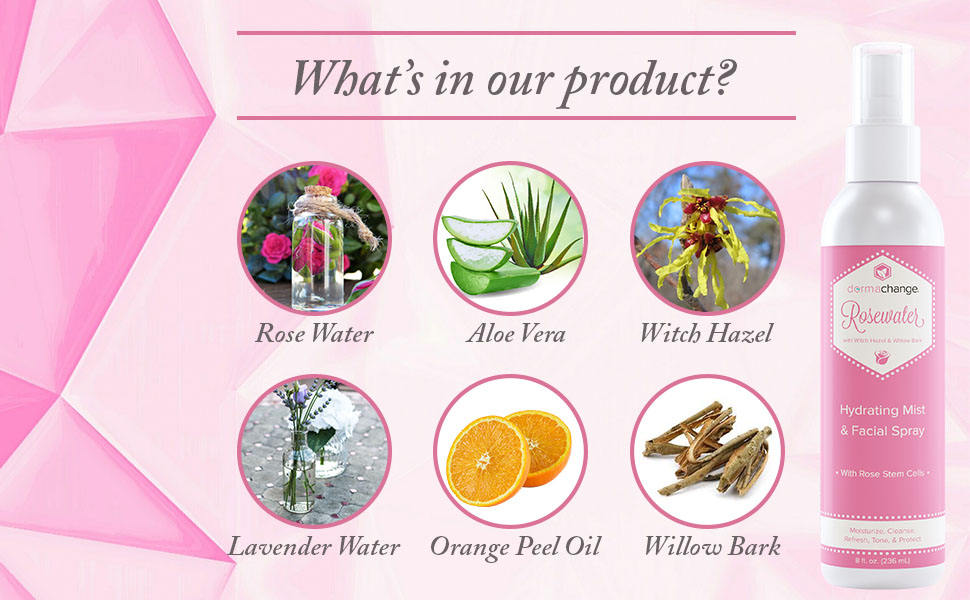 Rose Water Toner Ingredients