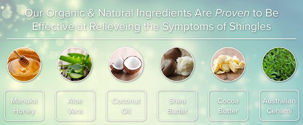 Amazon Com Organic Shingles Treatment And Relief Cream