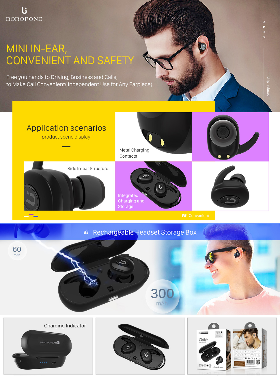 49b5c955f0f True Wireless Stereo: Completely True Wireless Earbuds, no wires to get in  the way. Most freedom. Bluetooth V4.1 + CSR: Ensure the fast speed  transmission ...