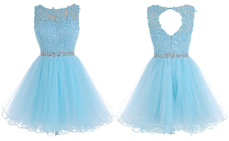 Amazon tideclothes alagirls short beaded prom dress tulle