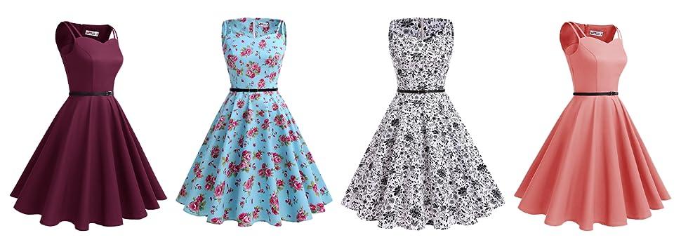 ALAGIRLS 1950s Vintage Retro Rockabilly Polka Dots Dress Party ...