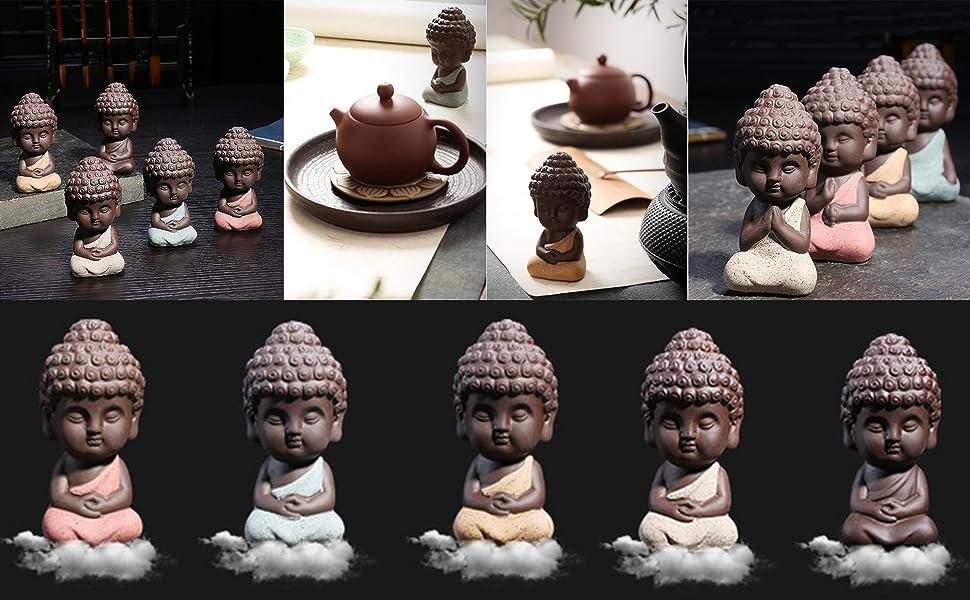 Small Buddha Statue Monk Figurine