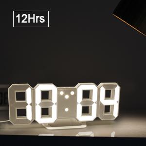 Amazoncom 3D Digital Alarm Clock Wall Clock LED Light with 1224
