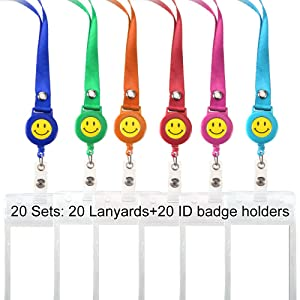 amazon com lanyards with id badge holders retractable carabiner