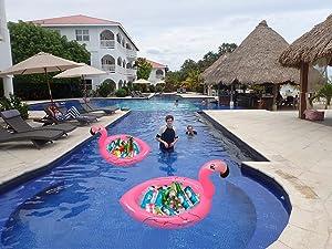 Amazon Com Inflatable Flamingo Cooler Salad Buffet
