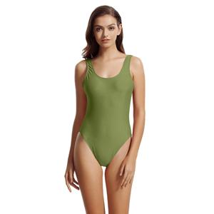 2bd20eddf0513 zeraca Women's High Cut Low Back One Piece Bathing Suits Swimsuits ...