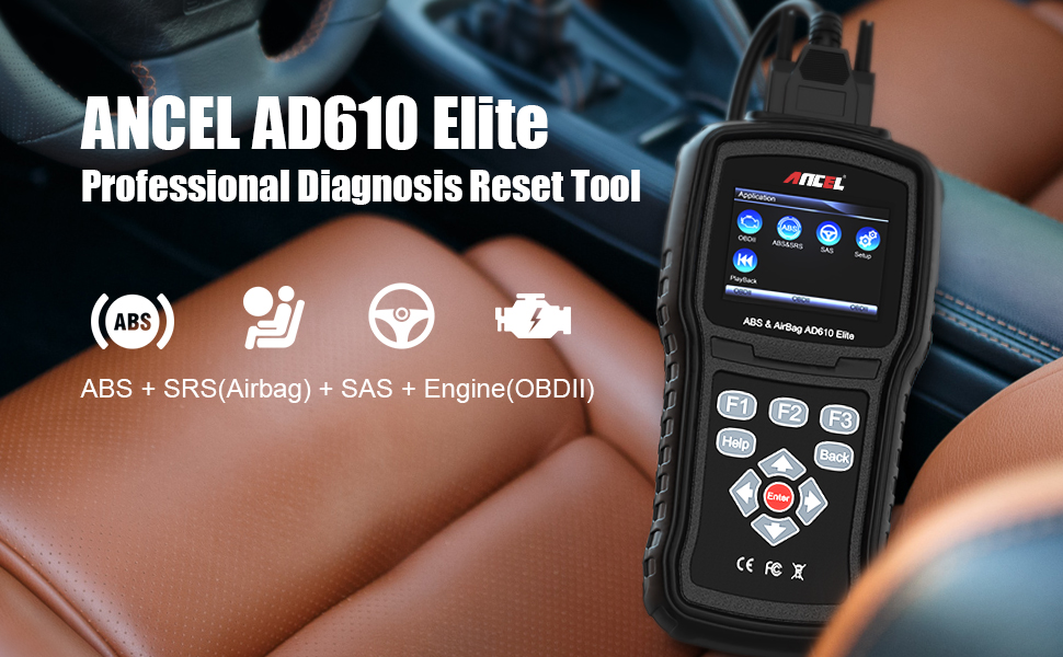 Amazon com: ANCEL AD610 Elite OBDII Scanner ABS SRS(Airbag) Reset