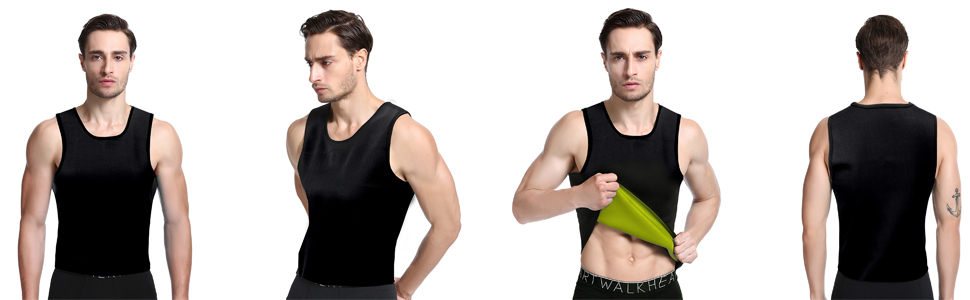 8b3dc837ad2 Amazon.com  Queenral Sweat Vest Men Slimming Belt Neoprene ...