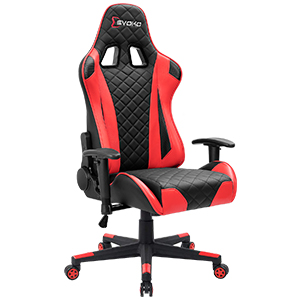 3  Devoko Racing Style Gaming Chair Height Adjustable Swivel PC Computer Chair with Headrest and Lumbar Support Leather Reclining Executive Office Chair (White) 8060fb4a 1d69 4cf1 9ef0 7ae05c0dff30