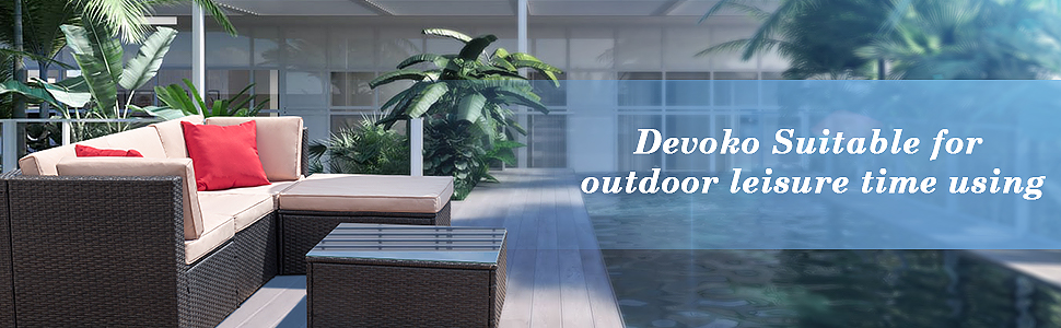Amazon Com Devoko 5 Pieces Patio Furniture Sets All