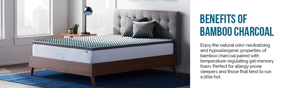 bamboo charcoal mattress topper