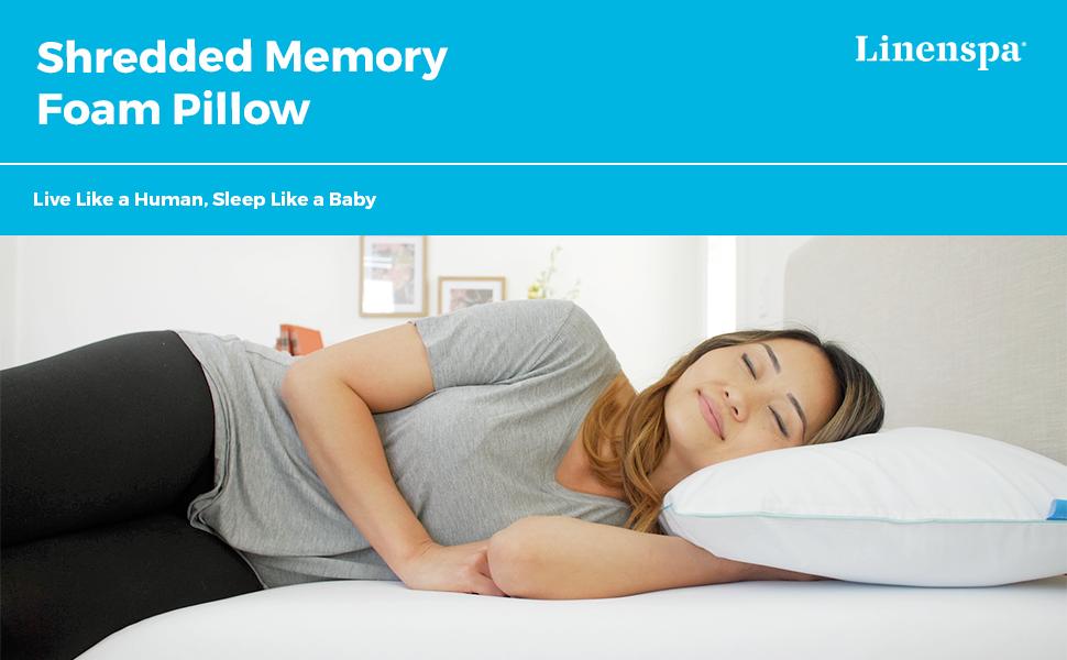 Shredded Memory Foam Pillow Header