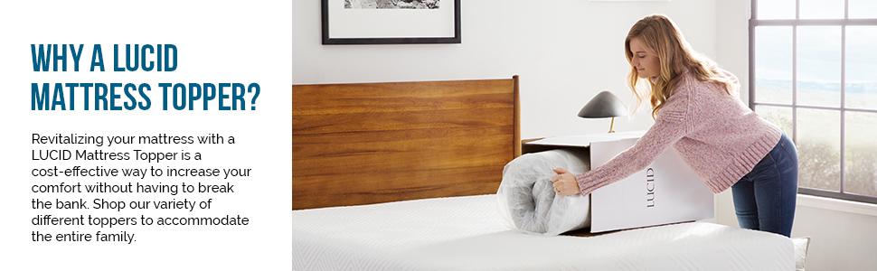 why lucid mattress topper
