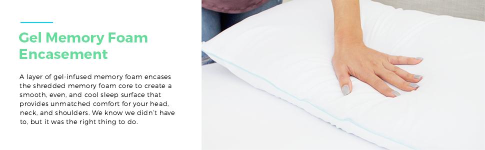 Amazon Com Linenspa Shredded Memory Foam Pillow With Gel