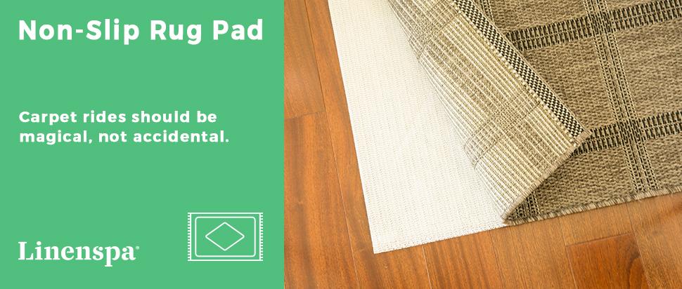 Amazon Linenspa Non Slip Area Rug Pad Excellent Grip Indoor