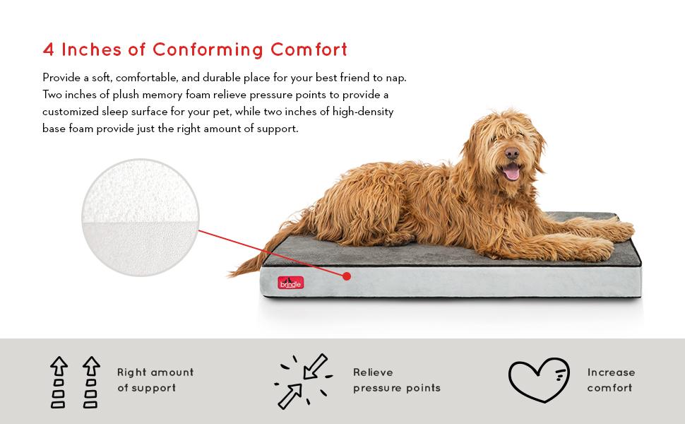 4 inch orthopedic memory foam pet bed