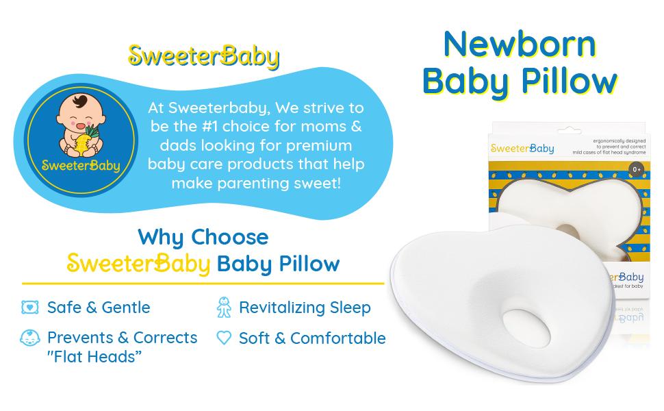 baby pillow flat head shaping newborn