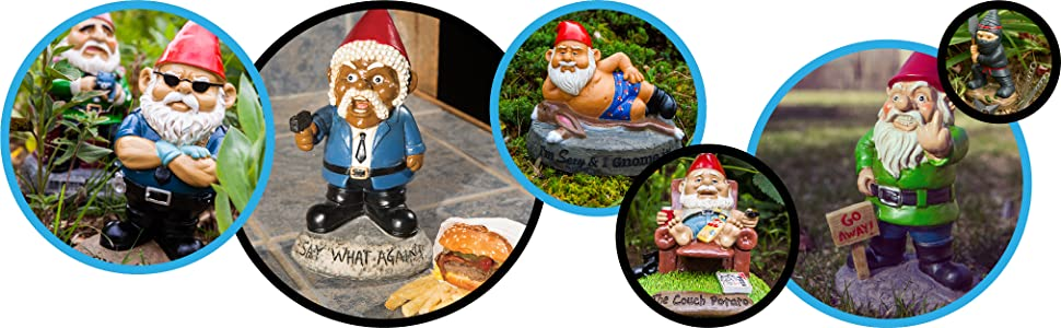 Nome Garden: Go Away Garden Gnome Angry Nome Middle Finger Flipping The