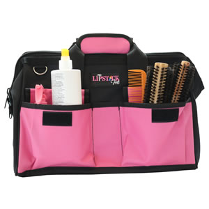 pink tool bag wide mouth durable hair brushes cosmetology work