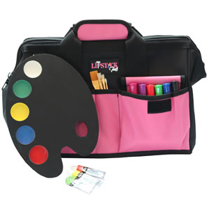 pink tool bag wide mouth durable arts and crafts heavy duty