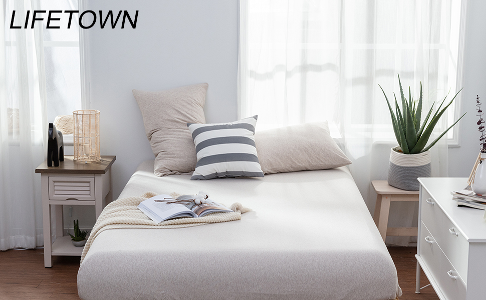 180 x 200 cm jersey//cotton//Fitted Sheet Bed Sheets White