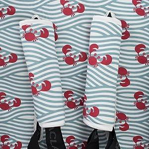 Janabebé Universal Luxury Foam Cover Liner for Stroller (White Star)
