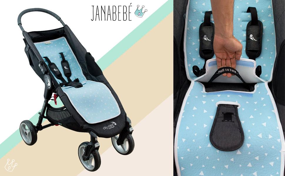 Janabebé Mat for Baby Jogger City Mini and Joolz (Rock Hero)