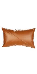 lumbar leather pillow