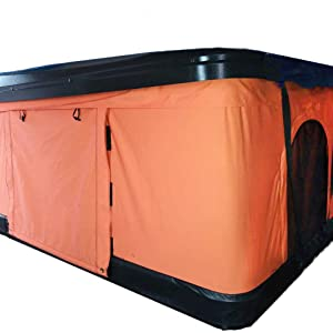 orange pop up tent