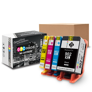 gpc image 902xl 4 pack remanufactured ink cartridge replacement hp 902xl 902 xl use. Black Bedroom Furniture Sets. Home Design Ideas