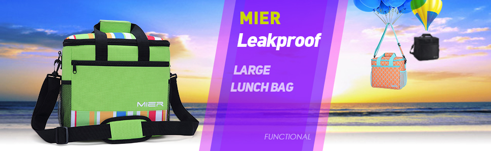 Amazon Com Mier 24 Can Large Capacity Soft Cooler Tote