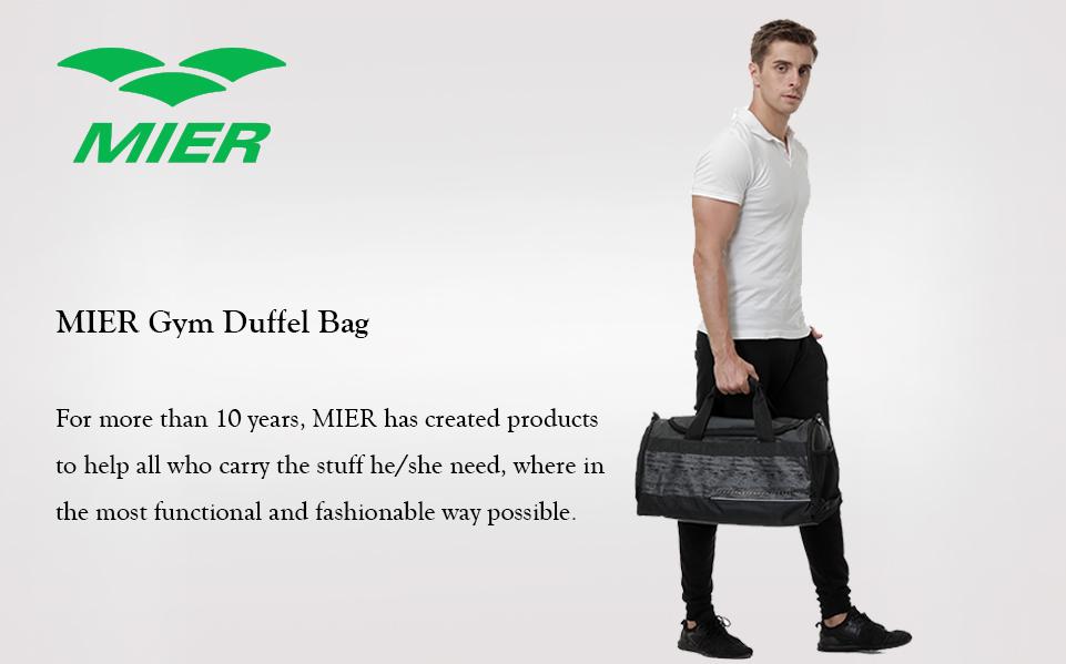 Product Description. Do You Like the sporting  MIER gym duffel ... 8fa602c5a