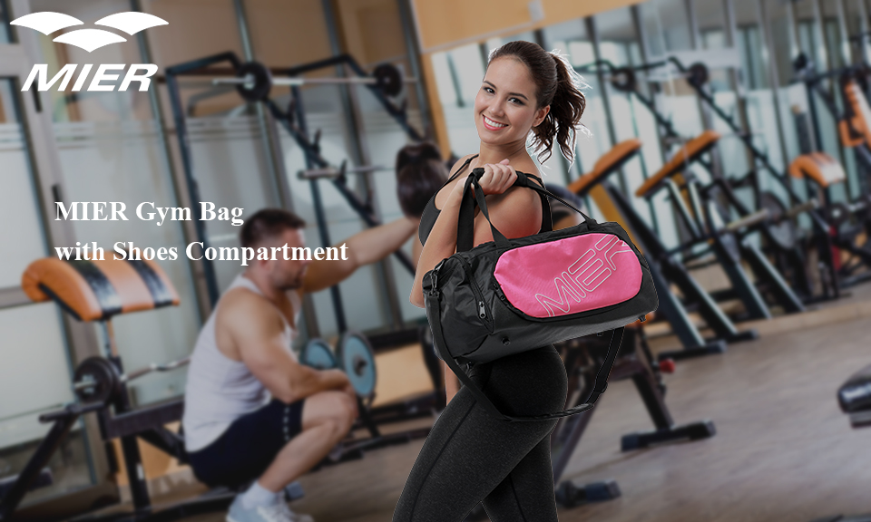 04f9487a896d MIER well made gym bag with high quality nylon material and more zippered  pockets