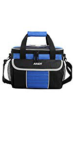 51a15bb8cf51f Amazon.com: MIER 16 Can Insulated Lunch Box Bag for Women Men Large ...