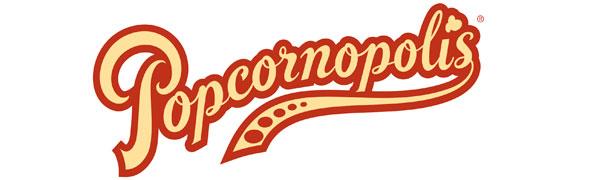 Popcornopolis Gourmet Popcorn Logo
