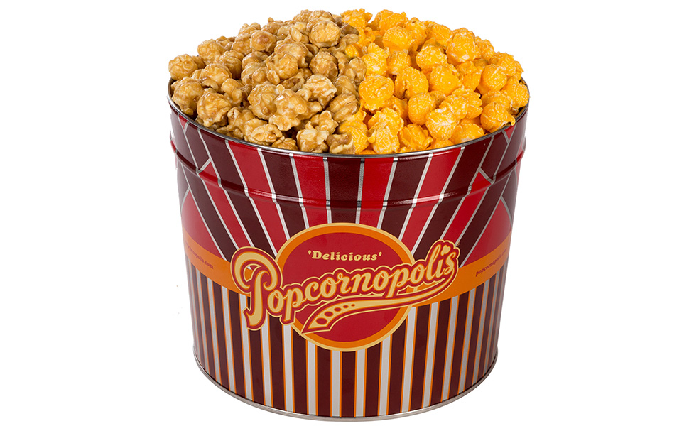 Popcornopolis Gourmet palomitas de maíz 1.26 galones lata ...