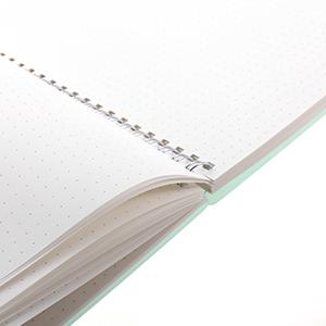 Amazon.com: A5 Notebook Spiral Matte Lime Dotted Wirebound ...
