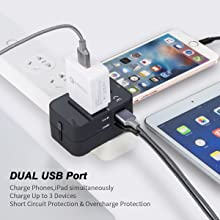 dual usb travel adapter
