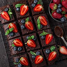 gluten free brownies with fruit