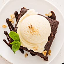 extra white gold gluten free brownies with ice cream