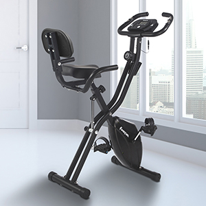 Harvil Foldable Exercise Bike in Black for Minimalist Homes
