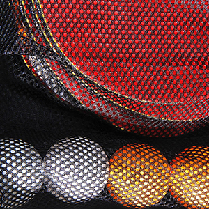 Mesh net of the Ping Pong Set carrying Case ensures that equipment won't scatter inside the bag