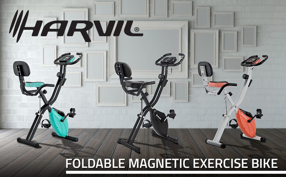 Exercise Bike Foldable Space Saving Workout Machines for Indoors