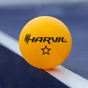 Harvil 4-Player Ping Pong Table Tennis Racket and Ball Set