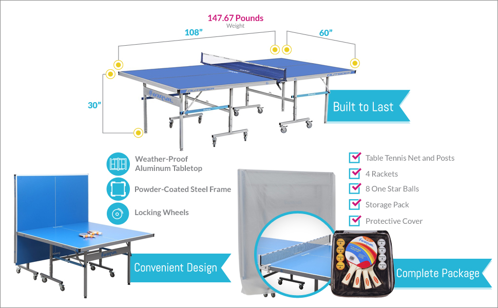 Superb Awesome Features Of This Harvil Outsider Table Tennis Table